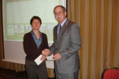 ConsEuro Rome 2006 Dr. F. Caughman congratulate prizewinner Dr. R. Leroy