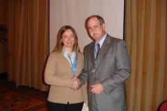 ConsEuro Rome 2006 Dr. F. Caughman congratulate prizewinner Dr. T. Bortolotto.