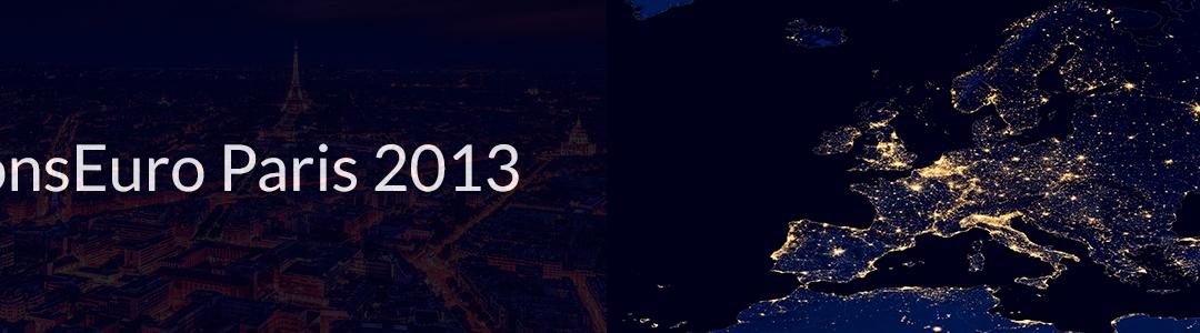 6th CONSEURO Paris May 2013